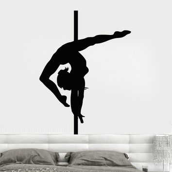 Wall Decal Sexy Girl Pole Dance Striptease Nude Unique Gift z3242