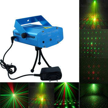 High laser Mini Aluminium LED Stage Lamp Pointer Disco Stage Lighting Christmas Wedding Party Bar Outdoor Indoor Projector light
