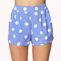 Pleated Polka Dot Shorts