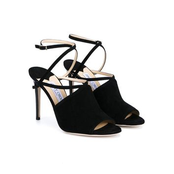 Flora Suede Sandals - JIMMY CHOO