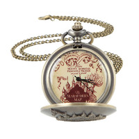 Harry Potter The Marauder's Map Pocket Watch