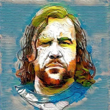 Game of Thrones Original Oil Painting - Clegane - 12x12 to 24x36 painting/poster/canvas; great gift idea