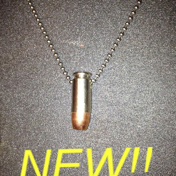 .40 Caliber S&W Bullet Necklace - Nickel Plated