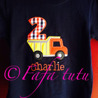 Truck Birthday shirt w/ patch for pants