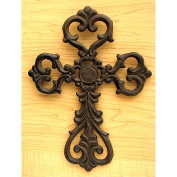 Medium Cast Iron Scroll Cross