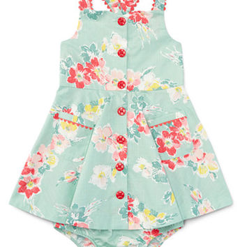 Ralph Lauren Baby Girls' Floral-Print Buttoned Sundress - Baby Girl (0-24 months) - Kids & Baby - Macy's
