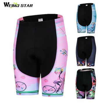 Weimostar Women Cycling Shorts Outdoor Sport Riding Bicycle Shorts Summer Ladies Shockproof Gel Padded mtb Bike Shorts bermuda