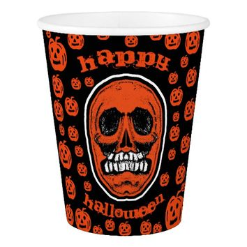 Happy Halloween - Grinder Teeth Skull 2 Paper Cup
