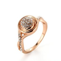 MLOVES Women's Delicacte Diamanted Retro Style Ring