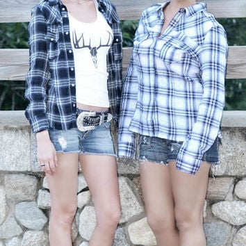 Country Girl Deer head flannel shirts