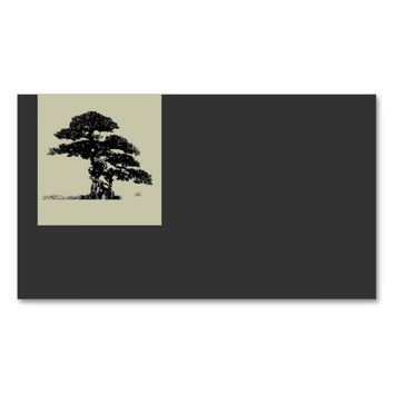 Bonsai tree business card template elegant style