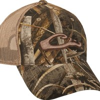 Mesh-Back Raised Logo Camo Cap | Drake Waterfowl
