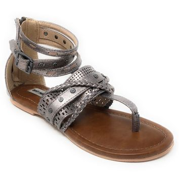 Not Rated Xylia Pewter Sandals