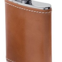 GSI Outdoors Glacier Leather Wrapped Flask -6 oz