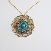 Boho Necklace // Boho Jewelry // Gold Necklace // Boho // Gold and Turquoise Necklace // Turquoise Necklace // Shira