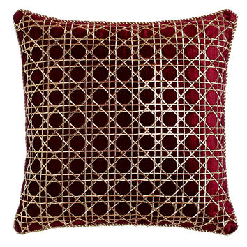 "Trellis Pattern Pillow, 20""Sq. - Jay Strongwater"