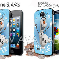 olaf disney frozen design for iphone 4 /4S / 5 case samsung galaxy S3 / S4 case
