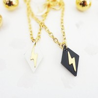 Tiny Lightning Necklace