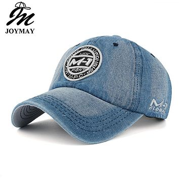 New arrival high quality snapback cap demin baseball cap 5 color Jean badge embroidery hat for men women boy girl cap