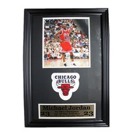 Chicago Bulls Michael Jordan Patch Frame (Black)