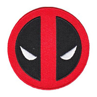Deadpool Men's Symbol Embroidered Patch Multi