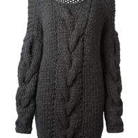 Nomad chunky cable knit oversized sweater