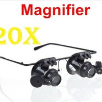 Glasses Type 20X Watch Repair Magnifier with LED Light = 1669156420