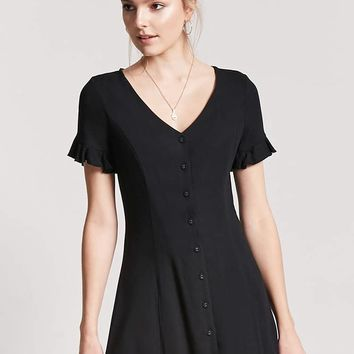 Button-Front Mini Dress