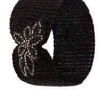 Beaded Applique Beanie Head Wrap by Charlotte Russe