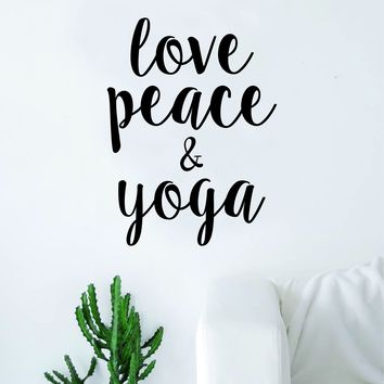Love Peace and Yoga Quote Wall Decal Sticker Room Art Vinyl Inspirational Decor Namaste