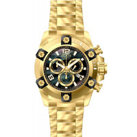 Invicta 15827 Men's Arsenal Reserve Black MOP Dial Gold Steel Bracelet Chronograph Dive Watch