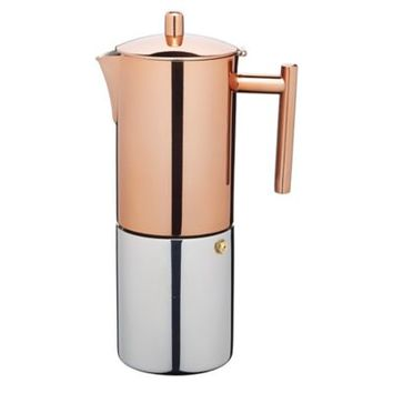 Le'Xpress Copper Finish Stovetop Espresso Maker in kitchencraft at Lakeland