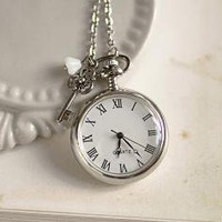 Love is Timeless Antique Silver Pocket Watch Free by beautyspot