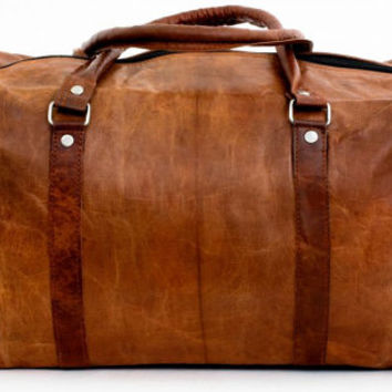 Steampunk Leather Travel Bag Overnight Bag Weekend Bag Leather Duffle Luggage Leather Holdall Gym Sports Bag