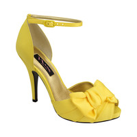 Nina ELECTRA CANARY LUSTER SATIN by Nina Shoes