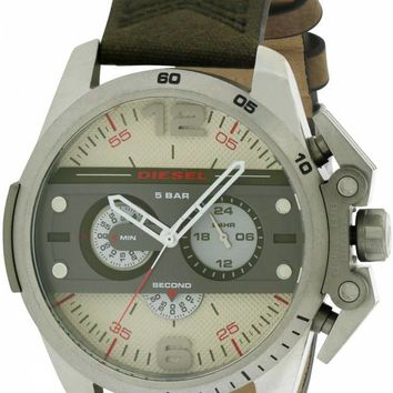 Diesel Ironside Leather Chronograph Watch DZ4389