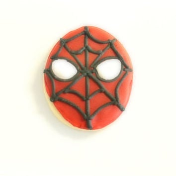 spiderman custom cookies
