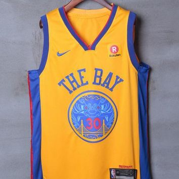 Golden State Warriors #30 Stephen Curry Nike City Edition NBA Jerseys