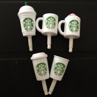 Starbucks Earphone Plug Cell Charm  Anti Dust Stopper by PhonePhun
