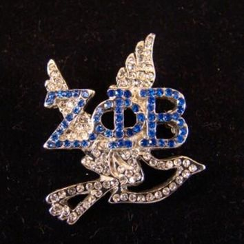 ZETA PHI BETA Crystal Greek Letter with Dove Lapel Pin 5 pieces; 1 lot