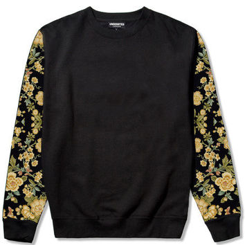 Floral Sleeve Crew