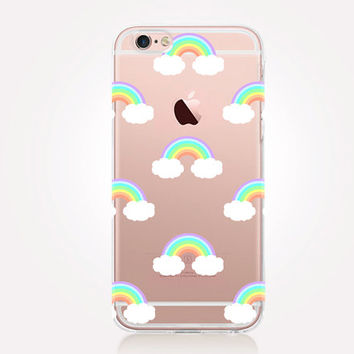 Transparent Rainbows iPhone Case - Transparent Case - Clear Case - Transparent iPhone 6 - Gel Case - Soft TPU Case - Samsung S7