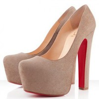 Christian Louboutin Daffy 160mm Taupe