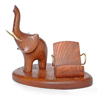 "Wooden Stand ""ELEPHANT"". IPhone 6/5/4S/4/3GS Wood Table Stand. Handcrafted Natural Ash-Tree"