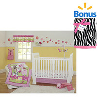 Walmart: Garanimals Sunny Safari 5-Piece Crib Bedding Set w/BONUS Valboa Blanket