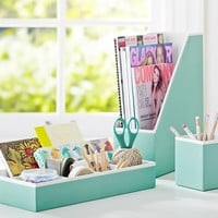 Printed Desk Accessories - Solid Pool with White Interior