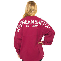 Crewneck Jersey Pullover in Sangria Red by The Southern Shirt Co.