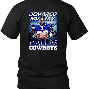 Demarco Murray Dallas Cowboys 2 Sided Black Mens T Shirt