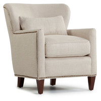 Colin Wingback Chair, Natural, Club Chairs