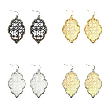 Filigree Drop Earrings Kendra + Chloe Jewelry Statement Fashion Isabel J. Scott